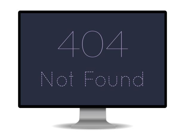 SEO Mistakes - 404 site not found error