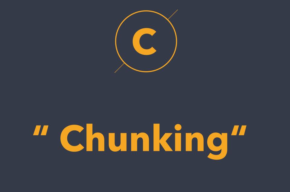 Chunking là gì? Designer áp dụng Chunking sao cho hợp lý?