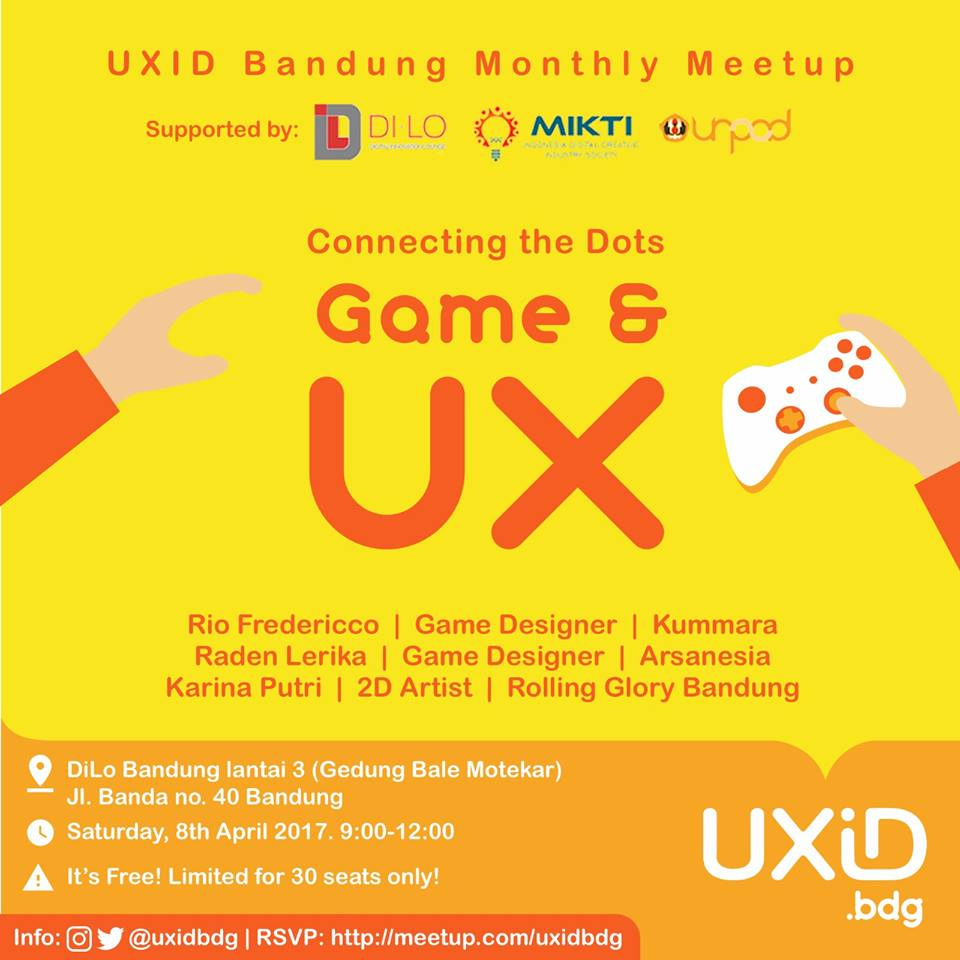 UXID Bandung – Connecting The Dots – UX & Game Design