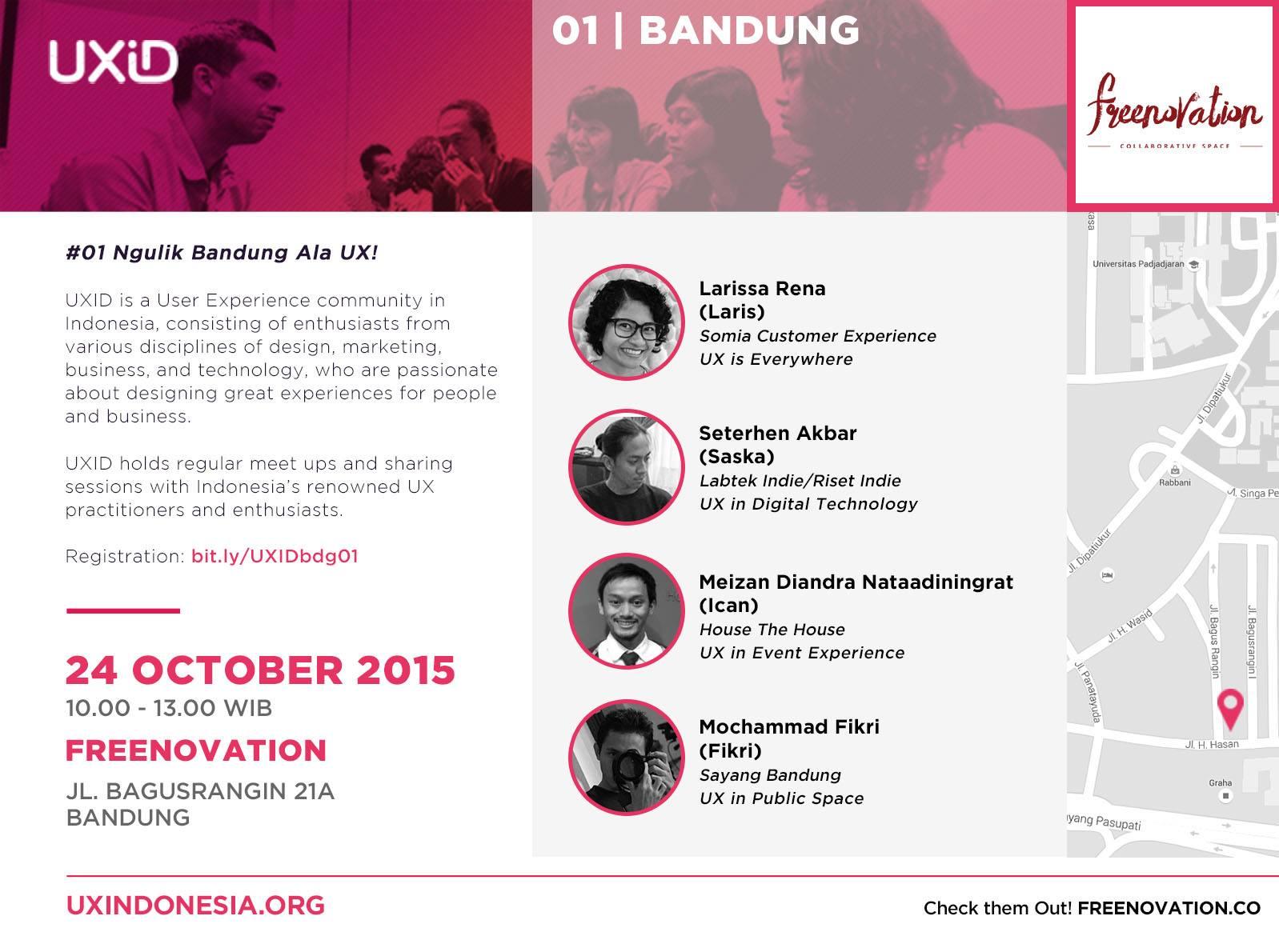 UXID Bandung First Meetup: Ngulik Bandung Ala UX