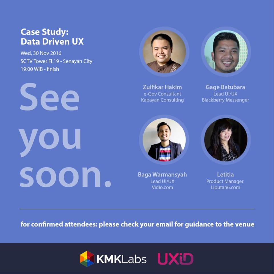 UXID Meetup: Data Driven UX – November 2016