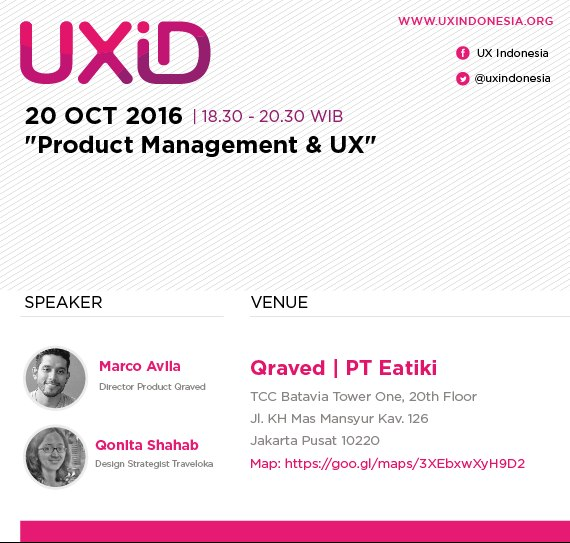 UXID Meetup October 2016: Product Management & UX
