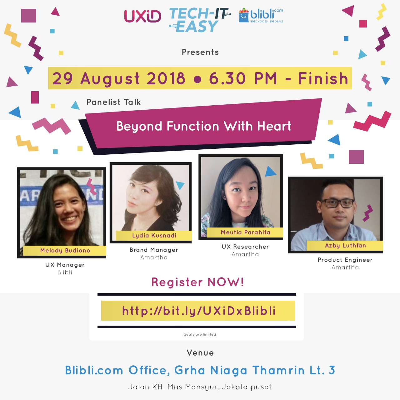 UXID X Blibli: Beyond Function With Heart – Agustus 2018