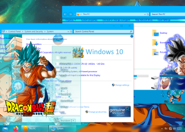 Dragon Ball Super Theme Windows 10