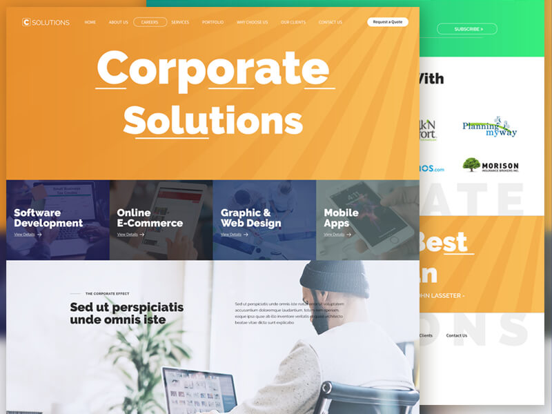 Corporate Solutions Website Ui Inspiration