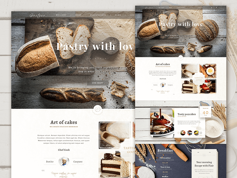 Food Website Landing Page Ui Inspiration