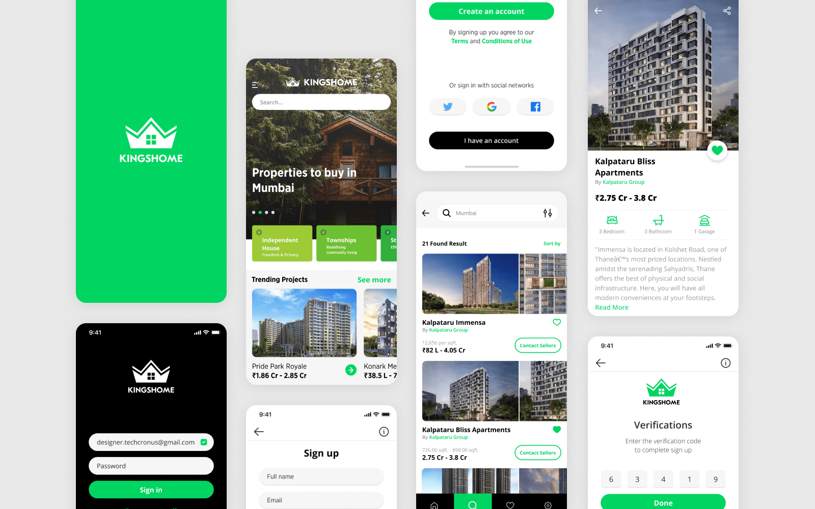 Real Estate Mobile App UI Design Ui Inspiration