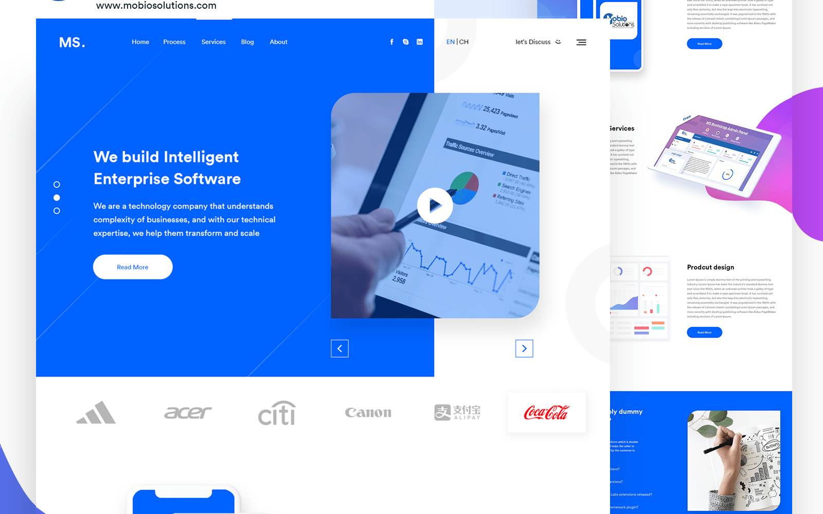 MS Agency | Free Multipurpose PSD Template Ui Inspiration