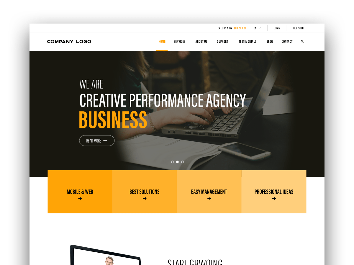 IT Company Web page Design Ui Inspiration