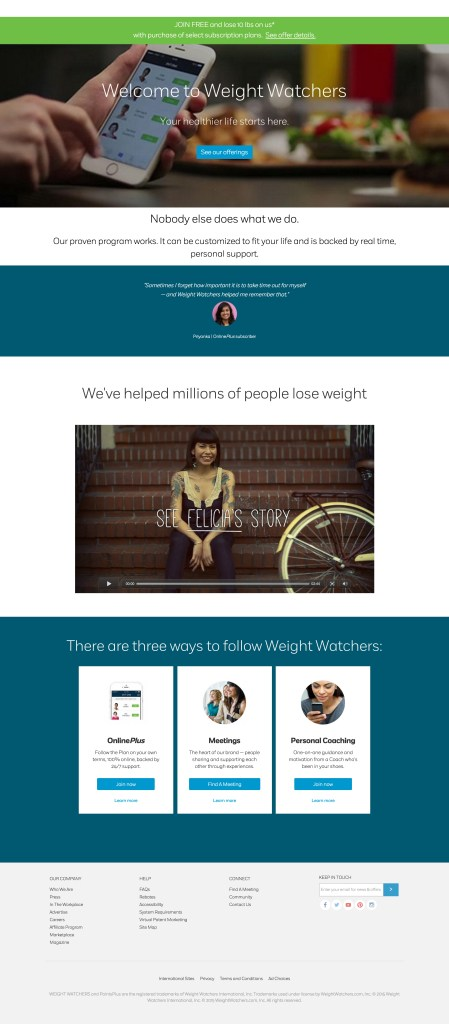 Current Weightwatchers Site.