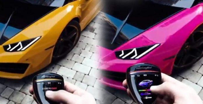 Renk degiştiren Lamborghini otomobiller