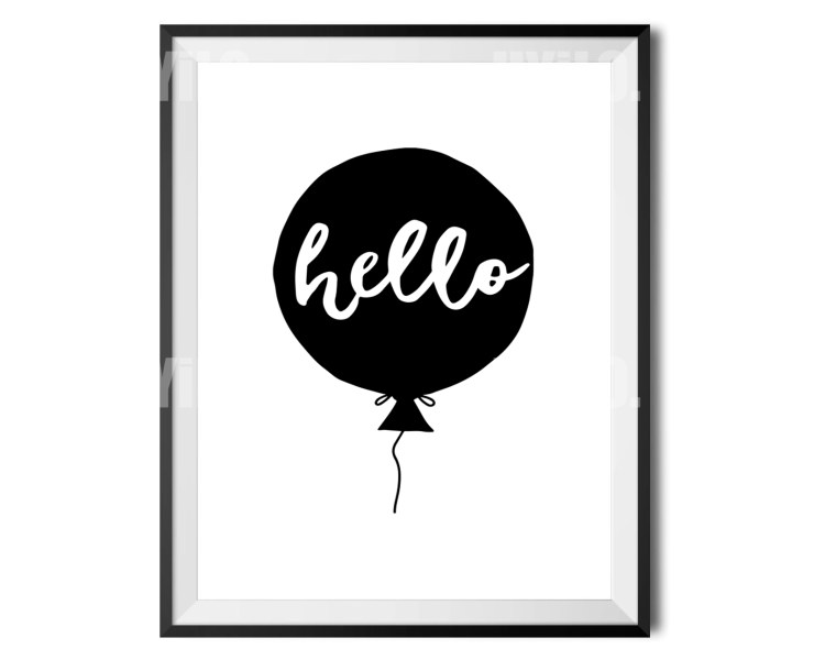 UYiLO - Hello, Kids Print, Wall Decoration, Digital Download