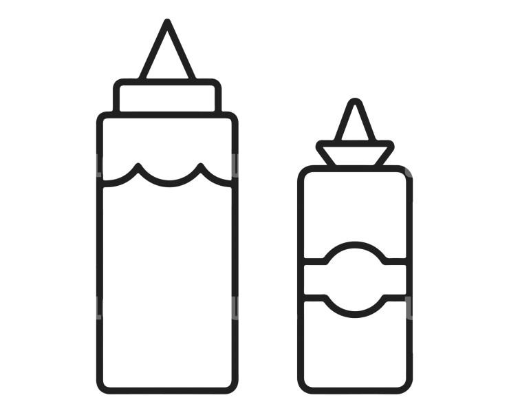 Ketchup and Mayonnaise Logo Template