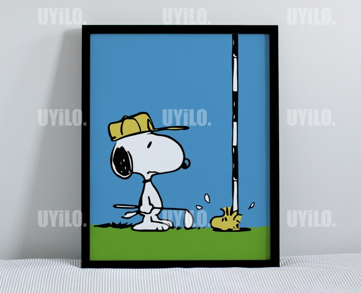 Poster, Snoopy and Woodstock Digital Print, Wall Art Print