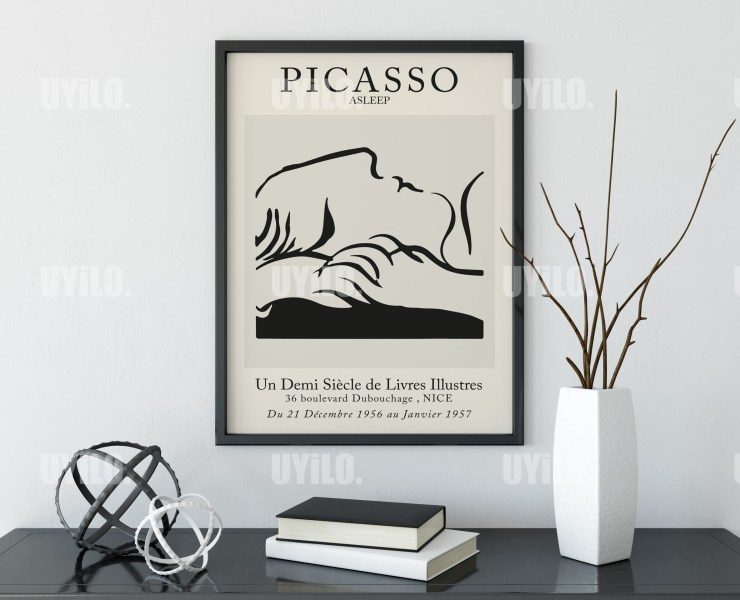 Picasso Exhibition Asleep Wall Art Print