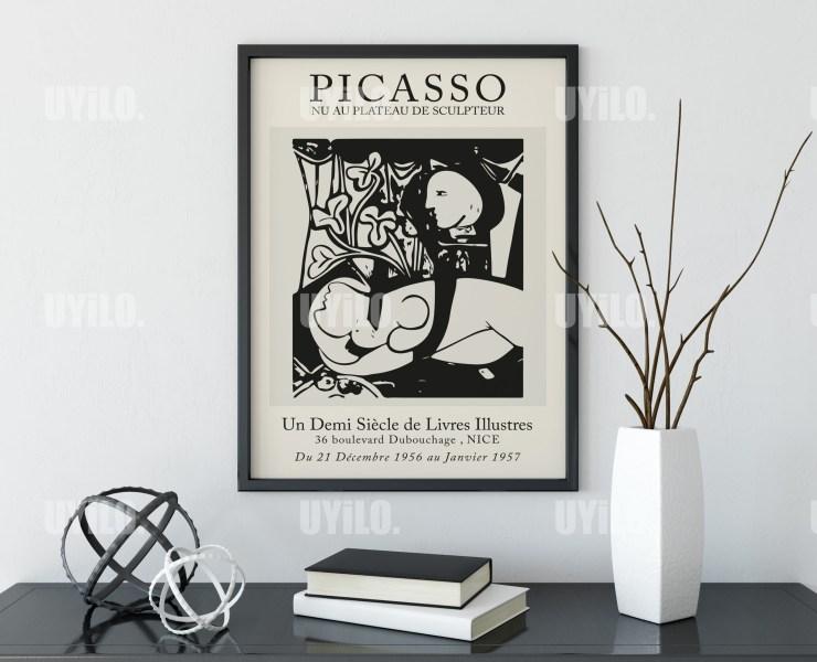 Picasso Exhibition Nu Au Plateau De Sculpteur Wall Art Print