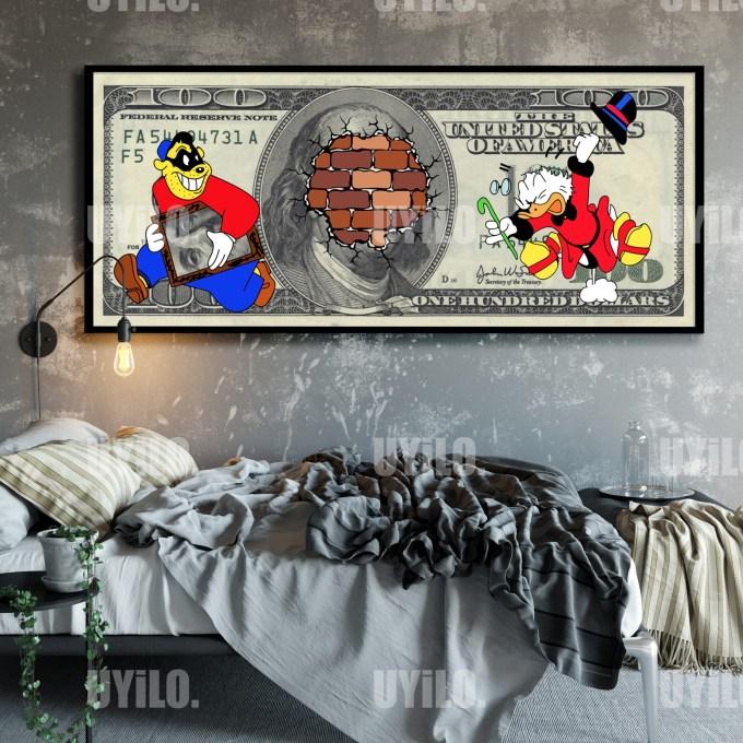 Scrooge McDuck, Money Art 3, Digital Download, Wall Art Print