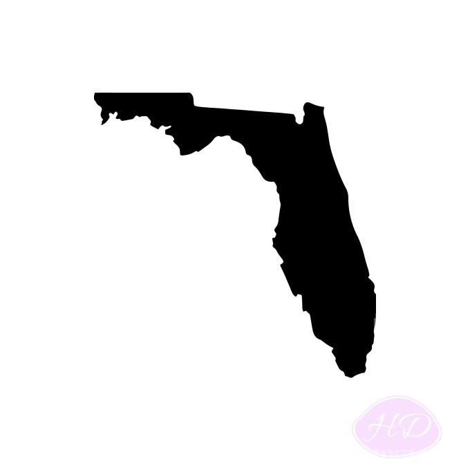 Florida Silhouette, Digital Download