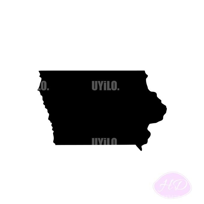 Iowa Silhouette, Digital Download