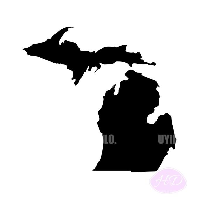 Michigan Silhouette, Digital Download