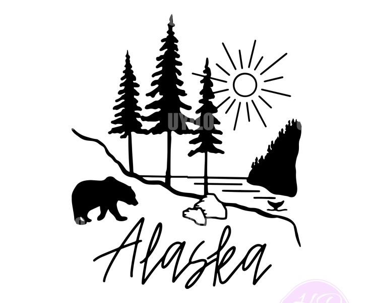 Printable Alaska Landscape, Digital Download