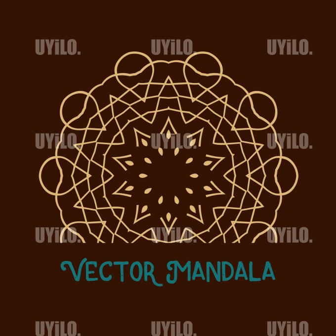 Vector Mandala 19, Instant Download
