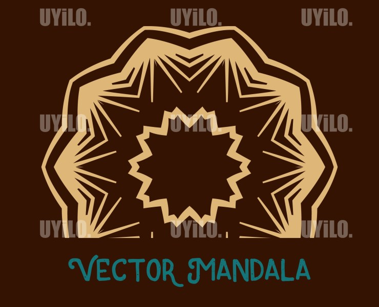 Vector Mandala 26, Instant Download