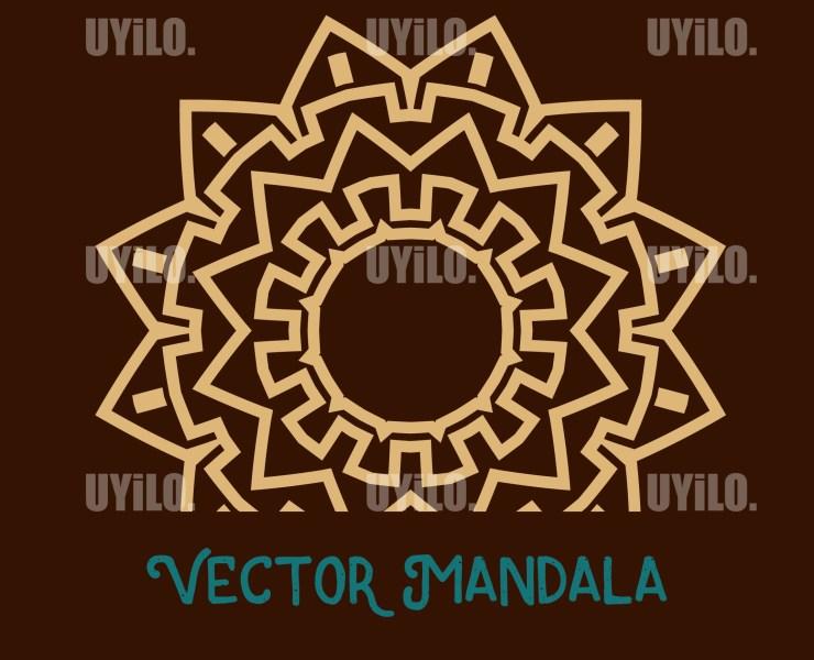 Vector Mandala 8, Instant Download