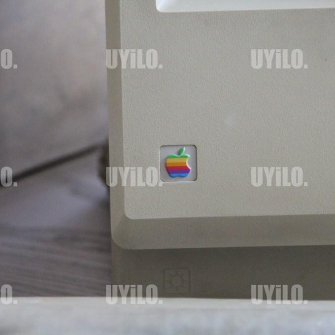 Apple Logo on old Macintosh Computer