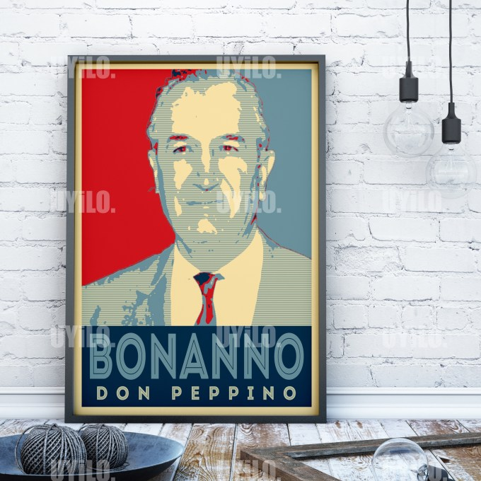 Giuseppe Carlo Bonanno in the style of the iconic Barack Obama Hope Poster
