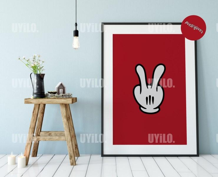 Mickey Hands 17, Digital Download, Wall Art Print