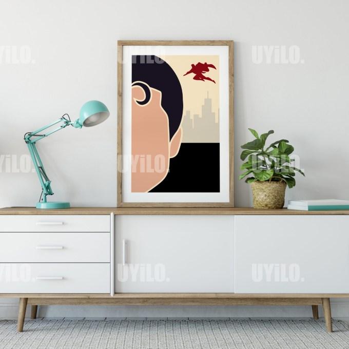 Minimalist Superman Digital Download, Wall Art Print