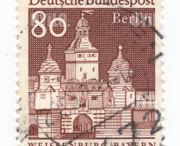 Postage Stamp Deutsche Bundespost Weissenburg Bayern