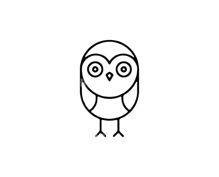 Owl -6 Minimal Logo