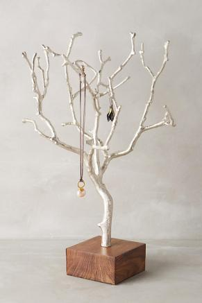 Painted tree branch for display