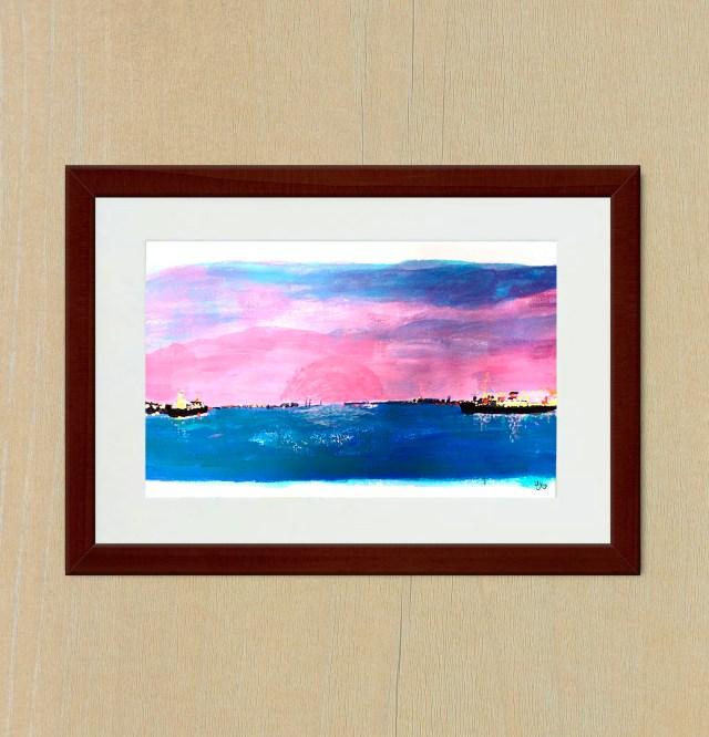 Giclee Art Print - Yokohama Port