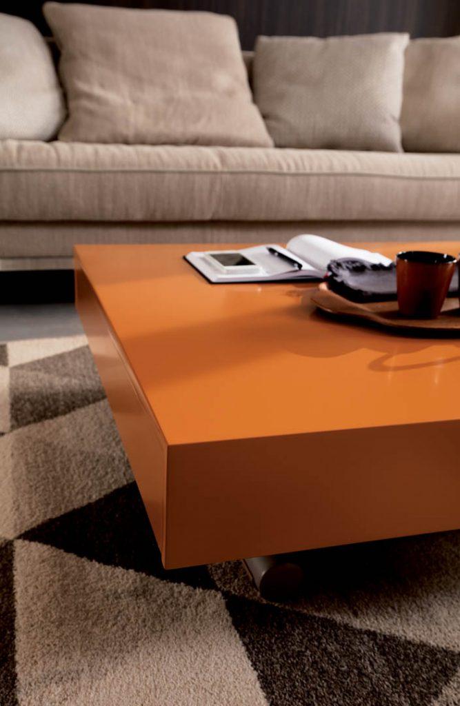 Ozzio Newood оранжевый журнальный стол трансформер