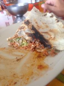 Palenque'de ve Meksika'da ilk yemeğim. Adını yazamayacak kadar açtım.