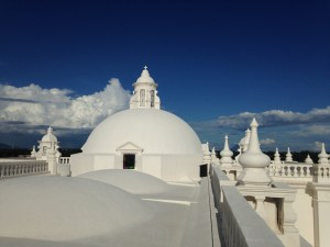 Catedral de Leon'un çatısı.