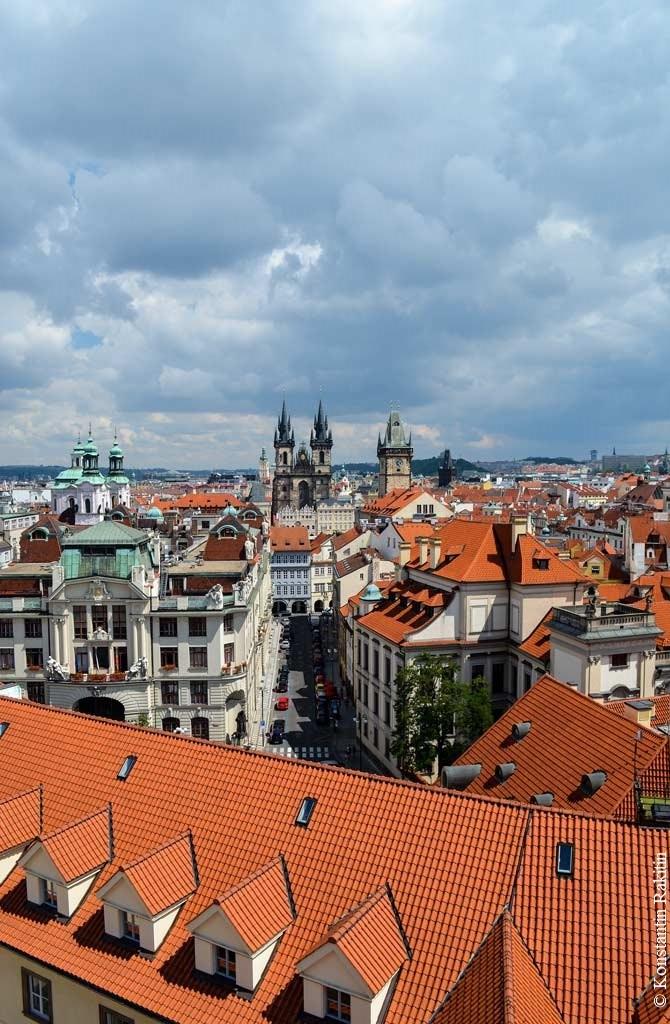 Прага. Вид на Старый Город с Клементинума