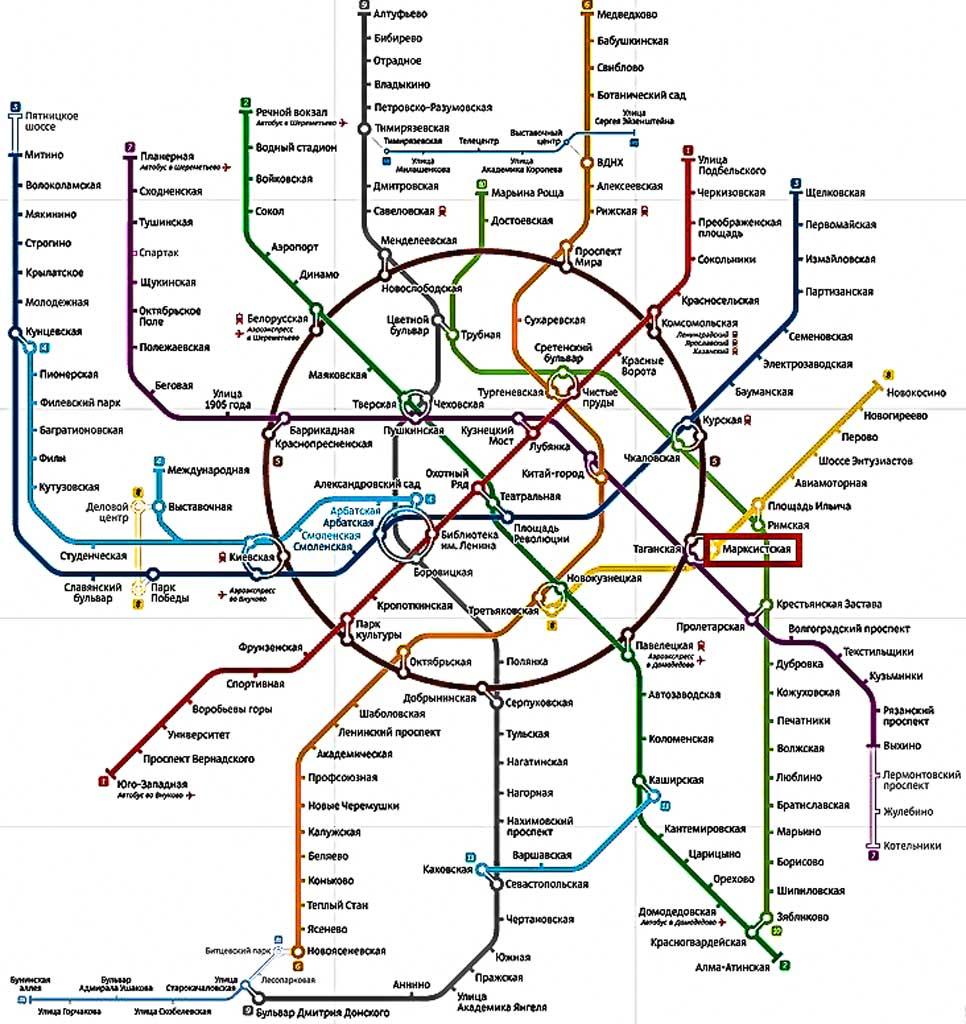 Расположение на схеме московского метро офиса Таганский Джей энд Ти банка