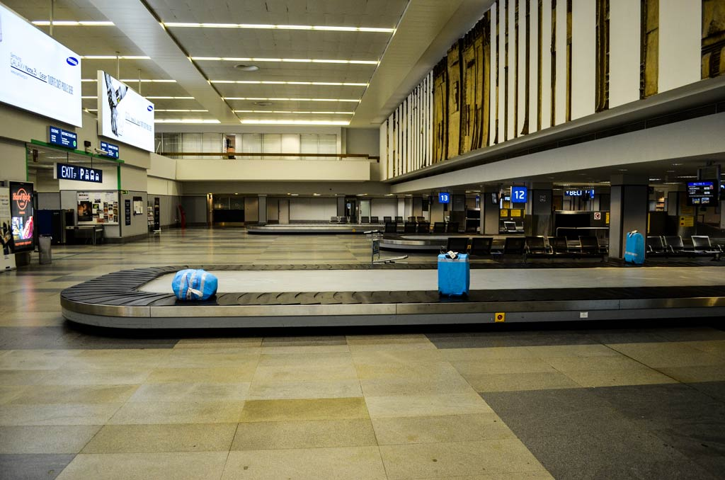 Прага. Аэропорт. Выдача багажа