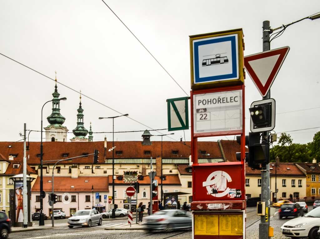 Прогулка по Праге самостоятельно. Градчаны. Трамвайная остановка «Погоржелец»