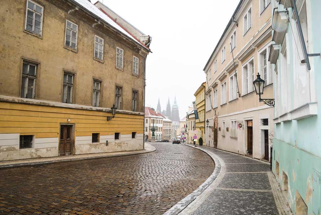 Прага. Улица Лоретанска