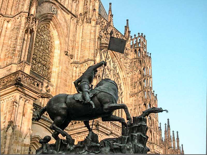 Пражский Град. Скульптура Св. Георгия