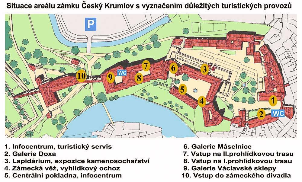 Схема замка Чески-Крумлов
