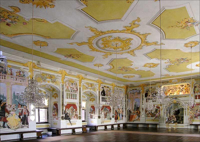 Замок Чески-Крумлов. Маскарадный зал