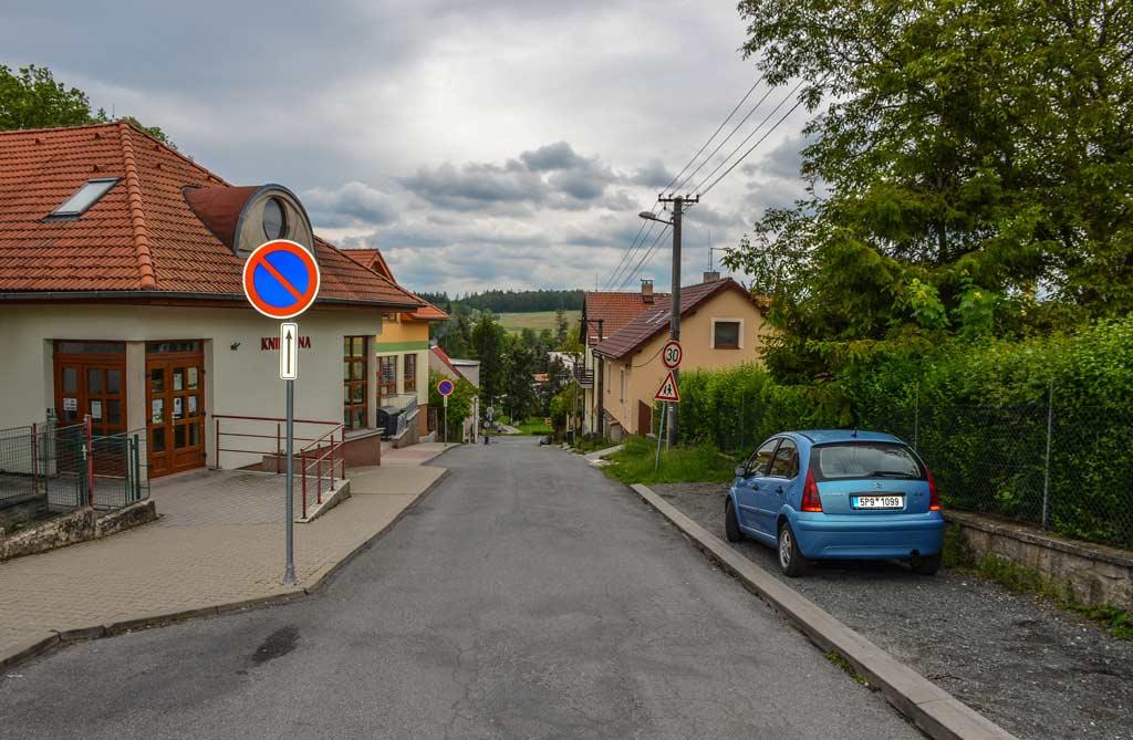 Велке-Поповице. Улица Husova