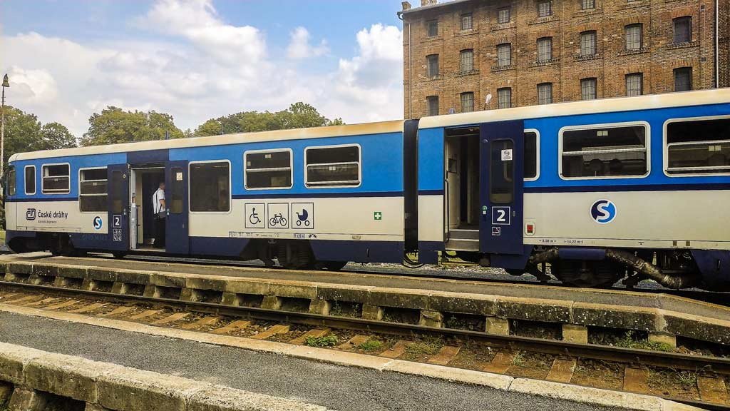 Пригородная электричка чешских железных дорог