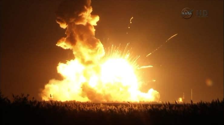 NASA rocket explodes